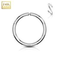 14 Karat Weissgold biergbarer Ring für Piercing Hoop Septum Nase Nostril Ohr Helix Conch Universal u