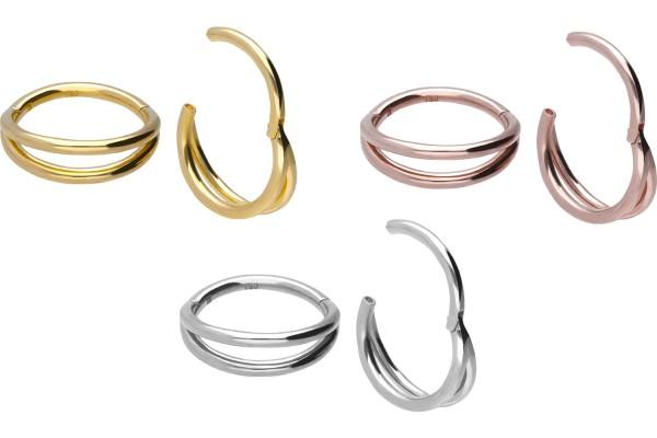18 Karat Gold Segmentring Clicker 2 RINGE
