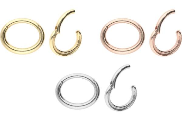 18 Karat Gold Segmentring Clicker OVAL