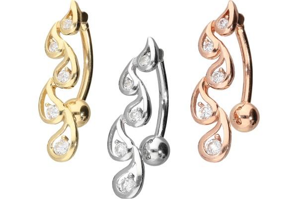 18 Karat Gold Bananabell ORIENTALISCHES DESIGN