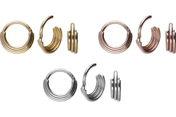 18 Karat Gold Segmentring Clicker 3 RINGE