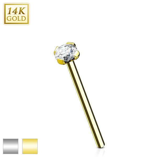 14 Karat Gold Nasenpiercing Fishtail