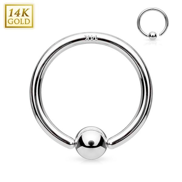 14 Karat Weißgold CBR Ring