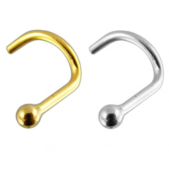 Nasenring Nasenpiercing Schraube Kugel Gold 585 14 Karat