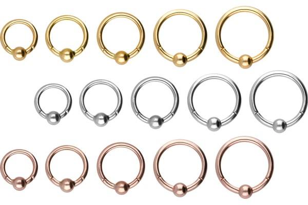 18 Karat Gold Segmentring Clicker KUGEL