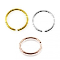 Hoop Ring Piercing Gold 14 Karat 585 Tragus Helix Nasenring