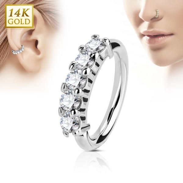 14 Karat Gold Hoop Ring für Nase oder Ohr