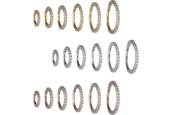 18 Karat Gold Segmentring Clicker KRISTALLE